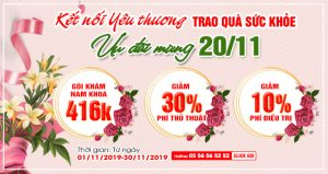Ưu đãi tháng 11: kỉ niệm 37 năm ngày Nhà giáo Việt Nam 20/11